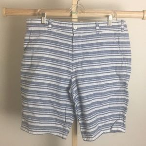 Express shorts 60% linen 40% cotton.      34